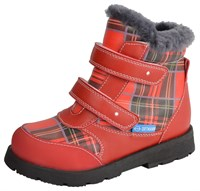 Детские зимние ортопедические ботинки ORTMANN Bela (красный)