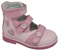 Детская ортопедическая обувь с высоким берцем Orthoboom 81597-32 (розовый)