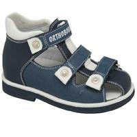 Детская ортопедическая профилактическая обувь Orthoboom 47387-9 (синий-белый)
