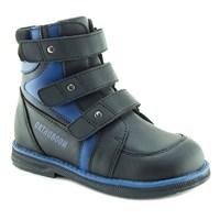 Осенняя ортопедическая обувь для детей - Ортобум 87397-35 (черный с лазурным)